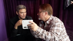 Yeah it really is George Clooney but in wax form! LOL